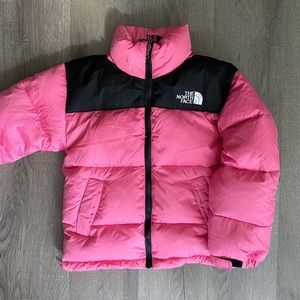 Vintage Children's pink the north face bubble
